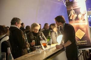 ADC, l'ambassade du Champagne, au salon Sirha à Lyon. © ADC