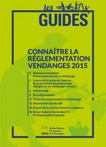 Les Guides du SGV - Reglementation vendange 2015-cover