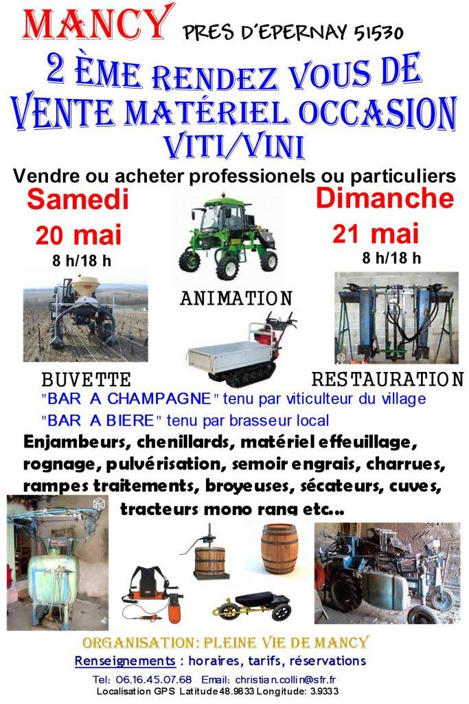 Vente de matériels vitivinicoles d'occasion
