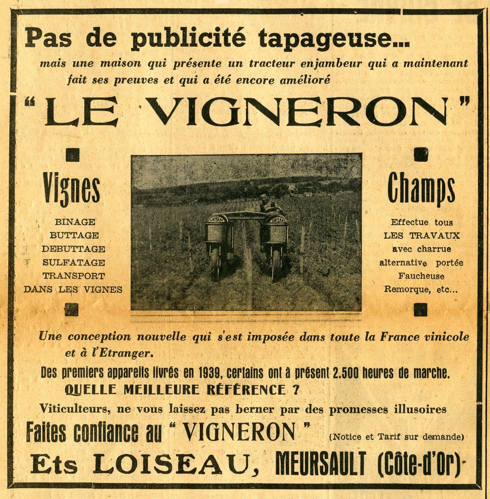 La publicité dans La Champagne Viticole depuis 1909