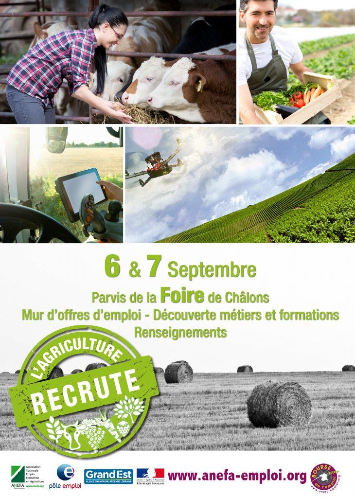 Foire de Châlons 2017 : l'agriculture et la viticulture recrutent!