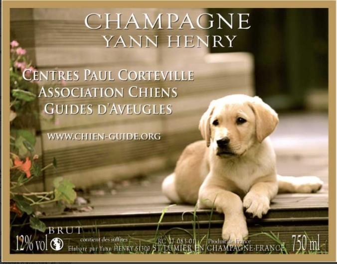 Le Champagne Yann Henry partenaire de Chiens Guides d'Aveugles