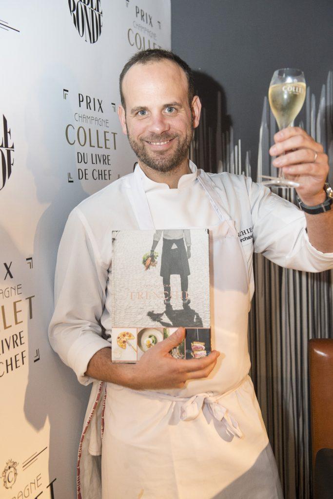 Le prix Champagne Collet du Livre de Chef récompense Grégory Marchand
