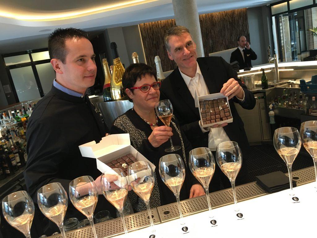 Le champagne Castelnau et le chocolatier Emmanuel Briet créent un accord «polisson»