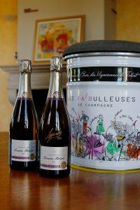 Portrait de Delphine Brulez et de son pere du Champagne Louise Brison a Noe les Mallet dans l Aube