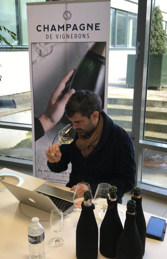 Olivier Borneuf déguste 467 champagnes de vignerons