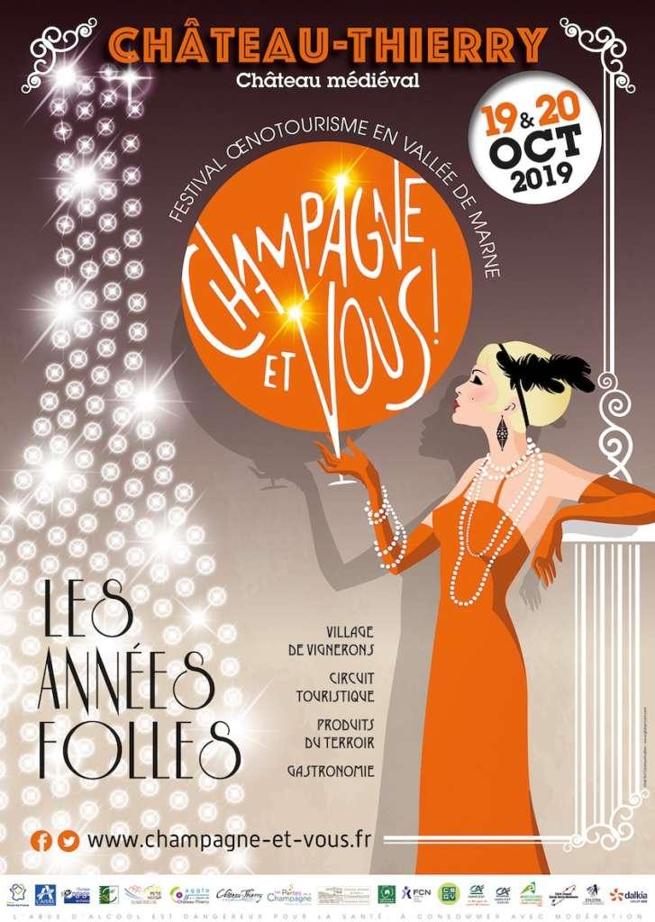 La thématique Années folles animera le 6e Festival Champagne et Vous !