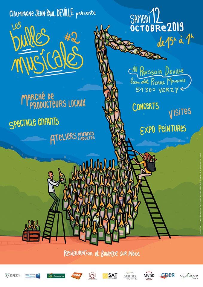 Encore une belle affiche pour Les Bulles Musicales #2