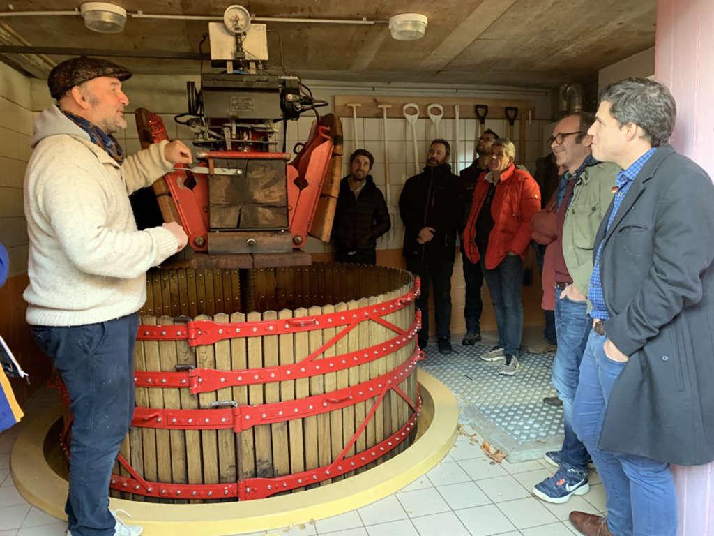 Etape «vinification» chez Vincent Laval