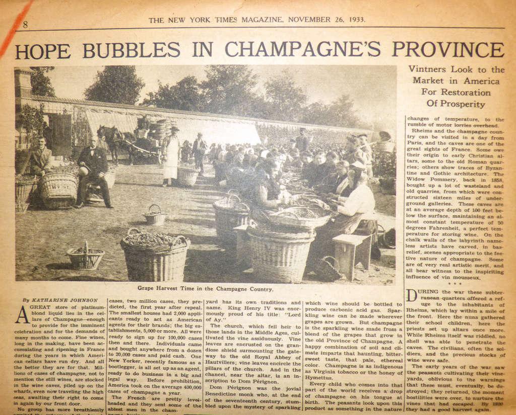 Le champagne au temps des «bootleggers»