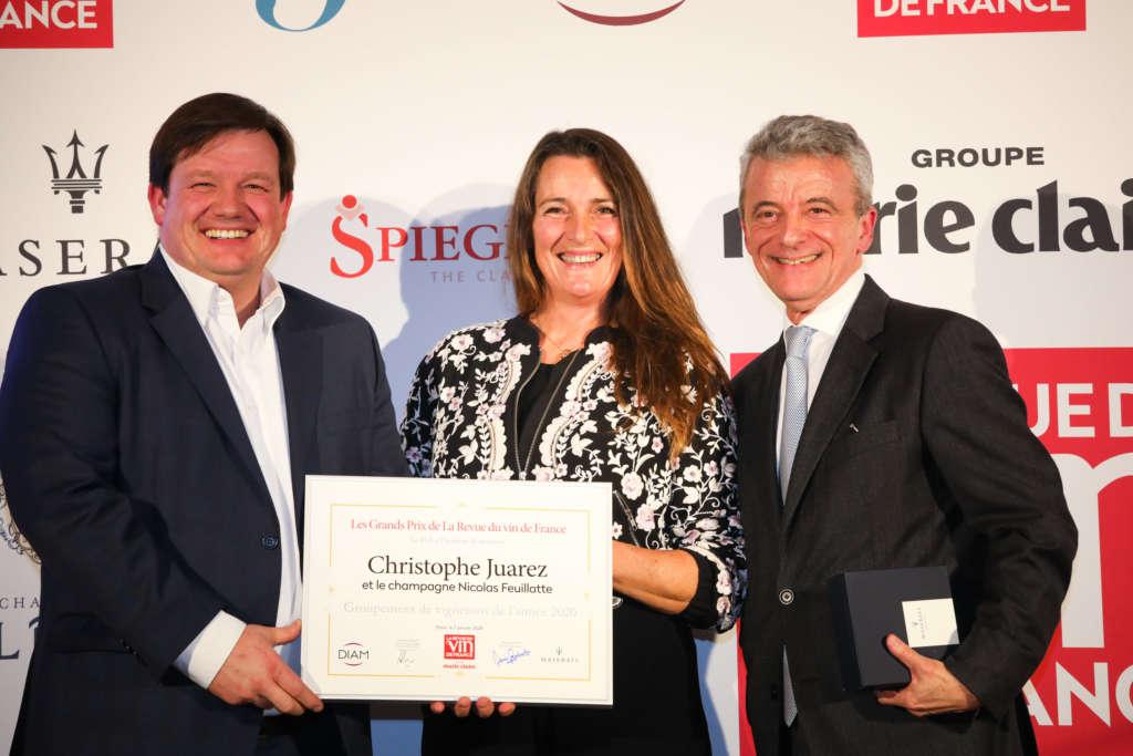 Le Centre Vinicole – Champagne Nicolas Feuillatte élu «Groupement de vignerons de l'année»