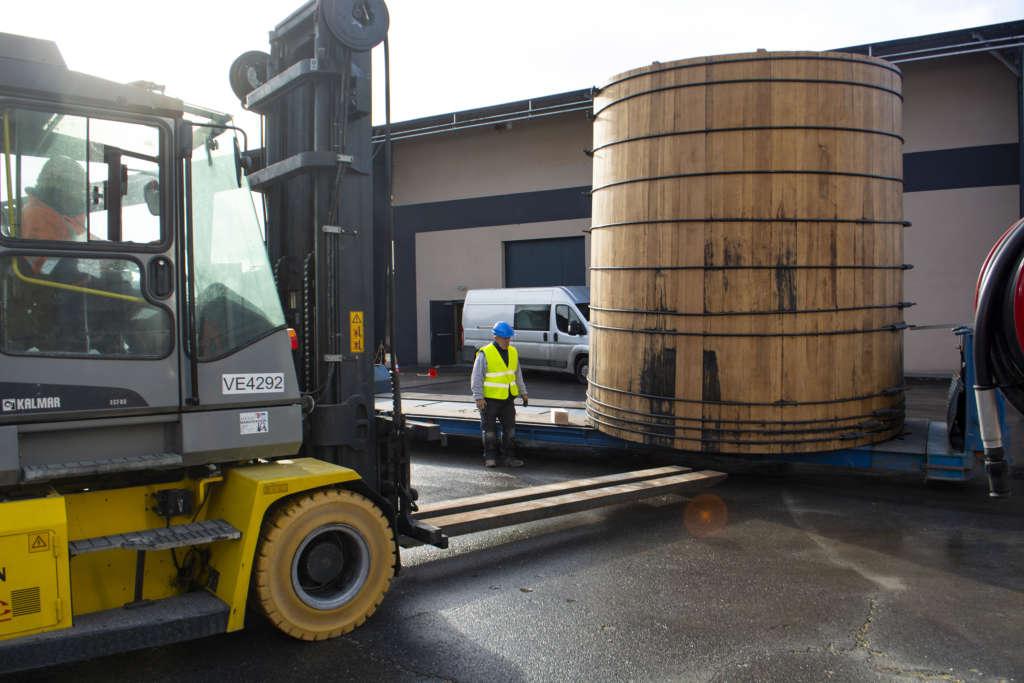 Quatre géants de chêne à la distillerie Goyard