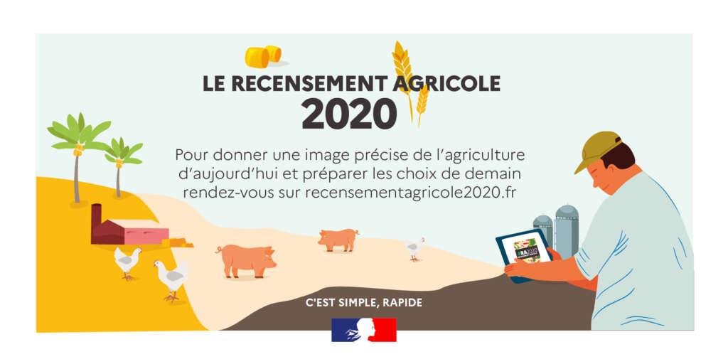Le recensement agricole c'est simple et rapide